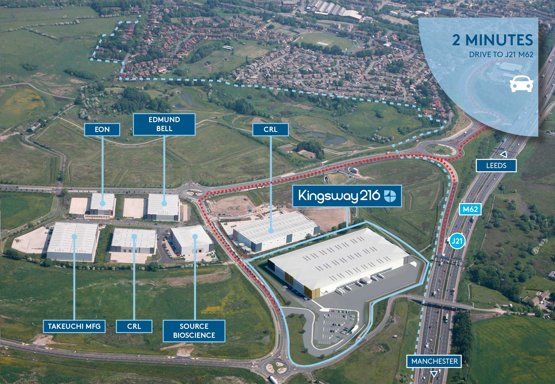 Kingsway 216 Business Park Aerial
